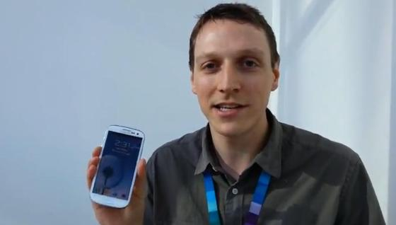 Dylan shows the S Voice feature on the Samsung GALAXY S III