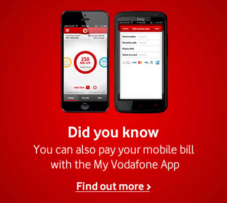 MyVodafone pay bill
