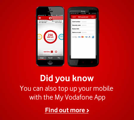 Top up with My Vodafone