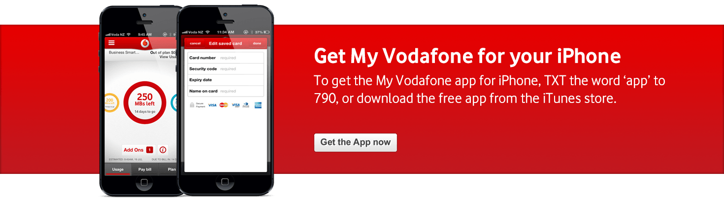 Personal My Vodafone iPhone Banner