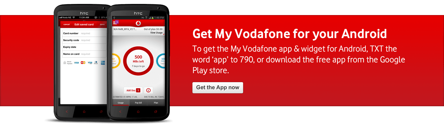 Personal My Vodafone Android Banner