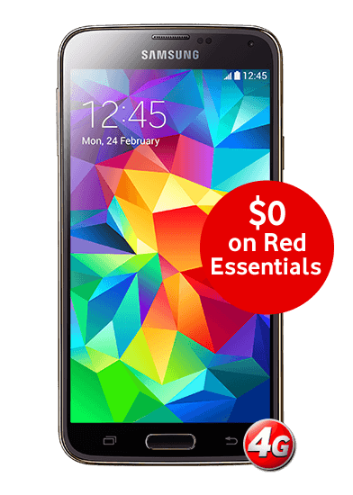 Samsung GALAXY S5 $0 on Red Essentials