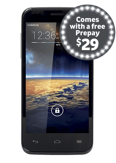 Vodafone Smart 4 with Prepay $29