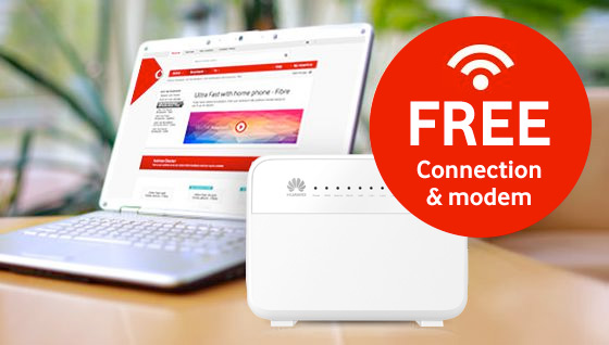 Free connection & wireless modem