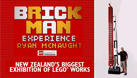 Win a family pass to Brick Man Experience