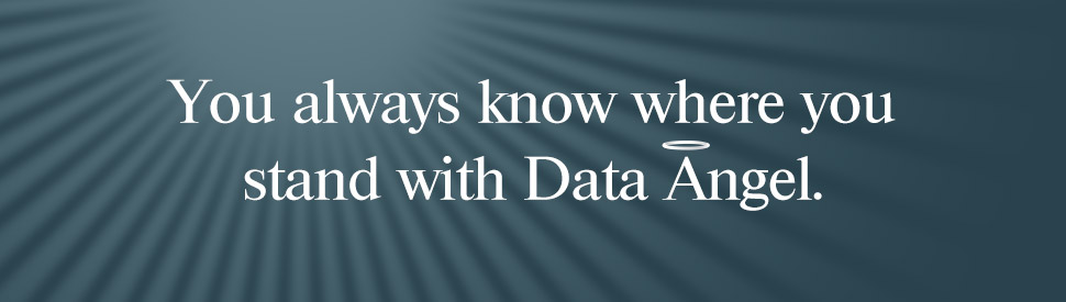 You always know where you stand with Data Angel