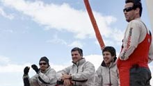 Sailors on the TeamVodafone yacht