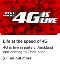 4G. Live first on NZ's leading network.