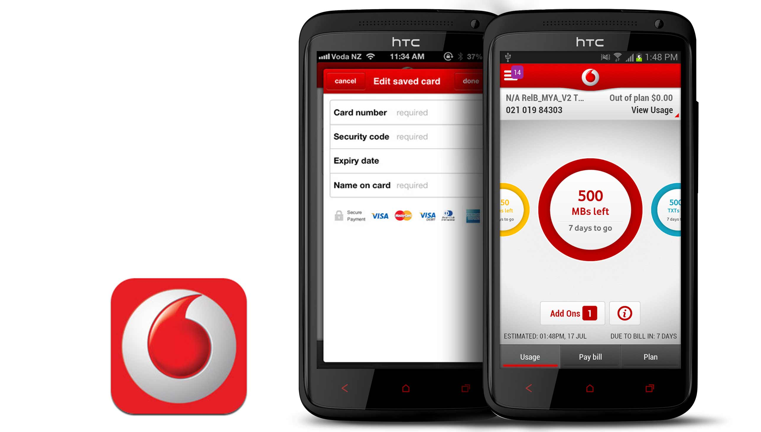 My Vodafone App with  Android Phone