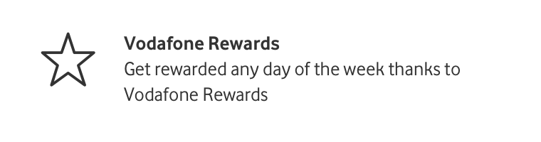 Vodafone Rewards - Get rewarded any day of the week thanks to Vodafone Rewards